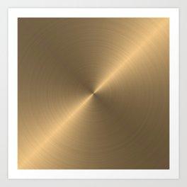 Circular metal brushed texture Art Print