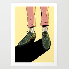 Wear those gators Art Print