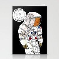 nasa Stationery Cards featuring NASA Astronaut - Cristina Curto by Cristina Curto