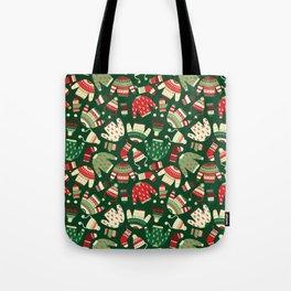 Ugly Christmas Fashion red green white Tote Bag