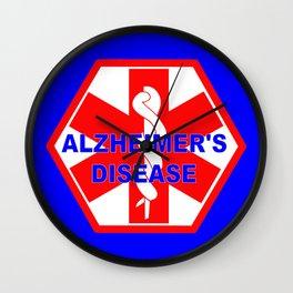 Alzheimer dementia medical identification ID tag Wall Clock