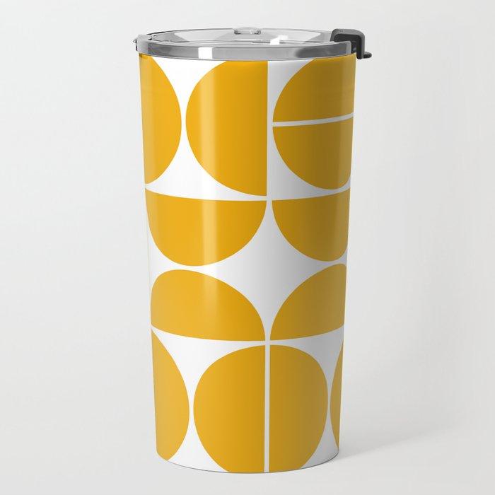 Mid Century Modern Geometric 04 Yellow Travel Mug