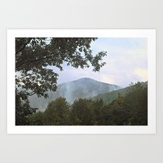 Foggy Mountain Top Art Print
