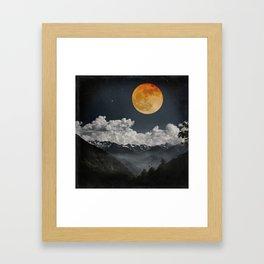 Moon Melodies Framed Art Print