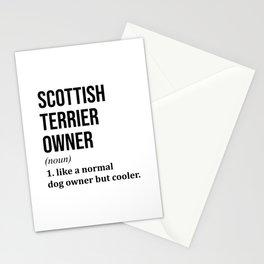 Scottish Terrier Dog Funny Stationery Cards