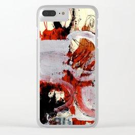 zim zam one black one red Clear iPhone Case
