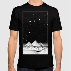 The Pyramids of Giza Black X-LARGE Mens Fitted Tee