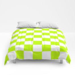 Checker (Lime/White) Comforters