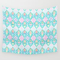 ice cream Wall Tapestries featuring Ice Cream by Hui_Yuan-Chang