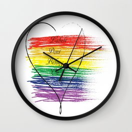 Labels on Love Wall Clock