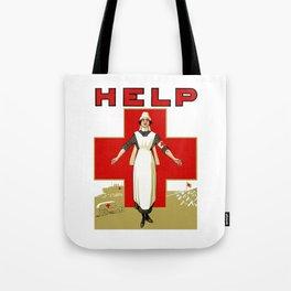 Vintage Red Cross -- Help Nurse Tote Bag
