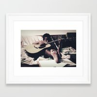 almost famous Framed Art Prints featuring Almost famous by John Medbury (LAZY J Studios)