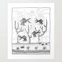 underwater Art Prints featuring Underwater by Condor