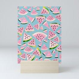 Watermelon Twist Vibes #5 #tropical #fruit #decor #art #society6 Mini Art Print