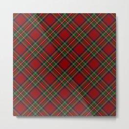 The Royal Stewart Tartan Stuart Clan Plaid Tartan Metal Print