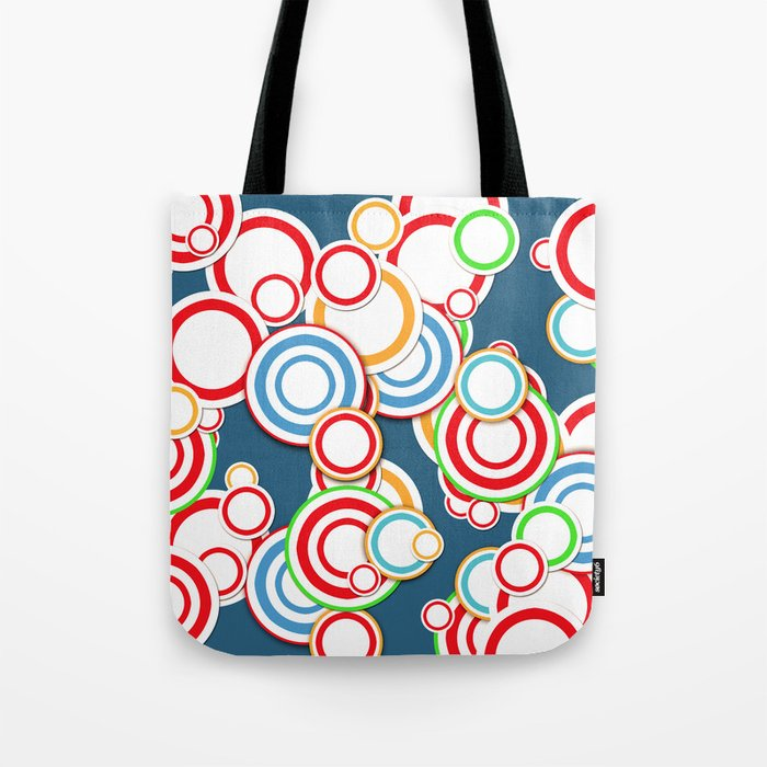 Pattern circle top Tote Bag
