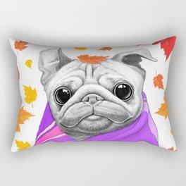Autumn Pug Rectangular Pillow