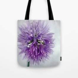 chives bloom Tote Bag