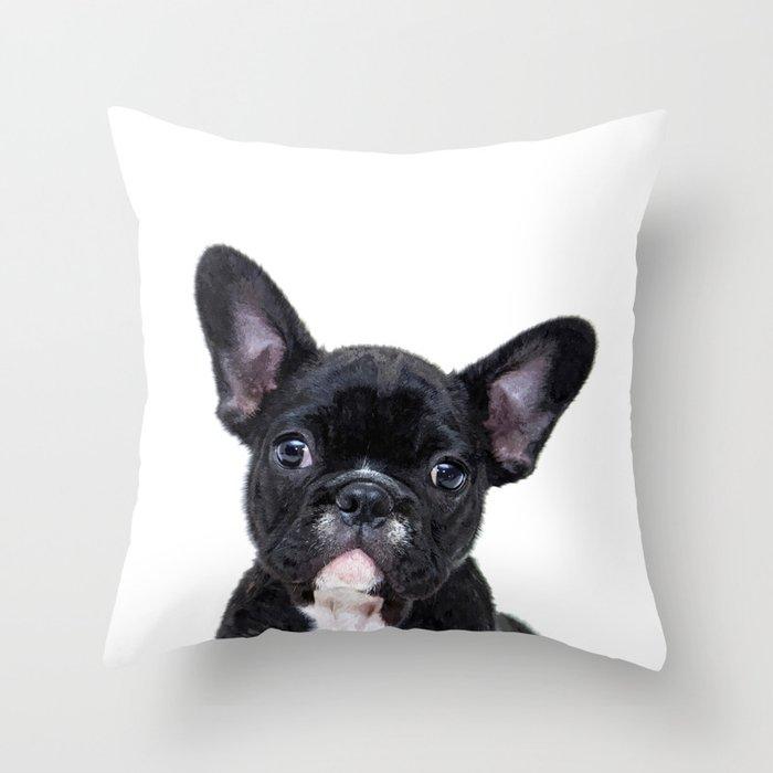 French bulldog portrait Deko-Kissen