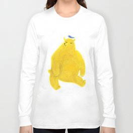 """Un ours invite..."" Book cover Long Sleeve T-shirt"