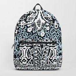 big paisley with floral monochrome Backpack