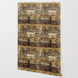 Egon Schiele - House Wall On The River Wallpaper