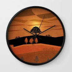 Retro Sunset Wall Clock