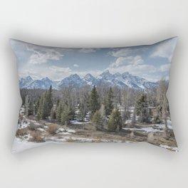 Grand Tetons from Schwabacher Road Rectangular Pillow