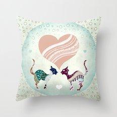 CatLove Throw Pillow