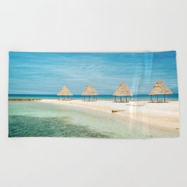 Waves and Clouds Beach Towel