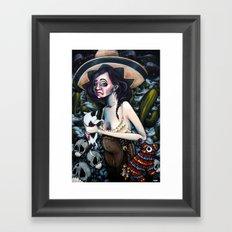 La fiesta Framed Art Print