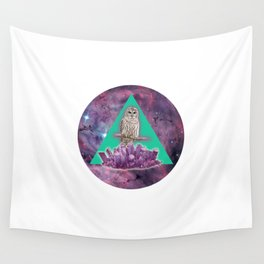 Owl Crystal Wall Tapestry