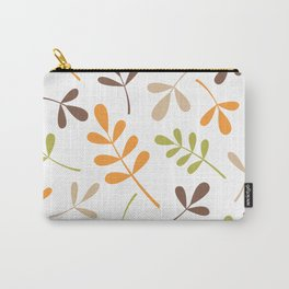 Assorted Leaf Silhouettes Retro Colors Carry-All Pouch