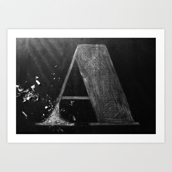 A Wood Art Print