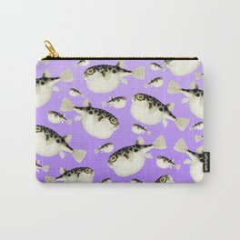 Puffer Fish Violet Purple Pattern Carry-All Pouch