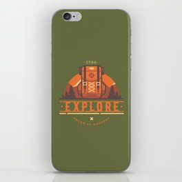 Explore - Backpack iPhone Skin