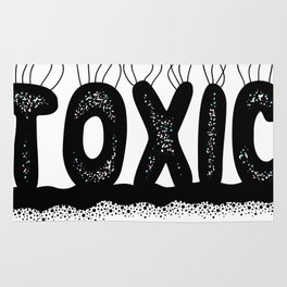 Toxic Cute Typography Design Rug