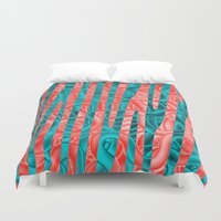 community Duvet Covers featuring Gated Community by RingWaveArt