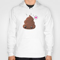 poop Hoodies featuring Poop Love by Whitney Lynn Art