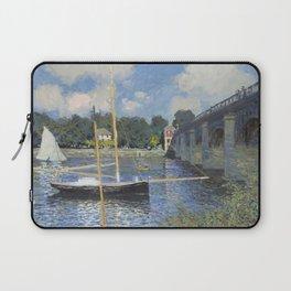 Claude Monet The Bridge At Argenteuil 1874 Laptop Sleeve