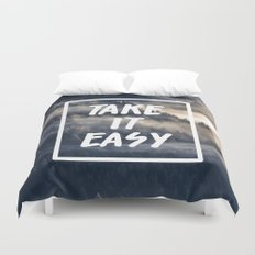 Take it easy on the mountains! Duvet Cover