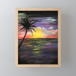 Sunset Sea Framed Mini Art Print