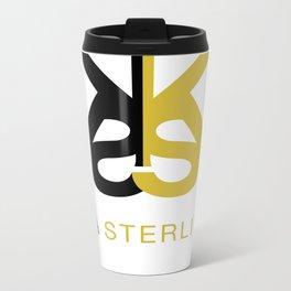 Kia Sterling Black/Gold Metal Travel Mug