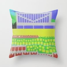 Rose Garden Throw Pillow