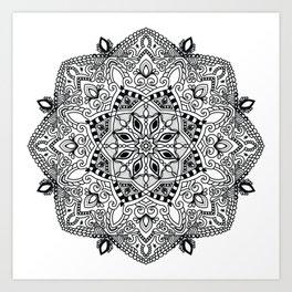 Project 290 | Black and White Mandala Art Print