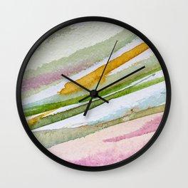 Colorful Brushstrokes Watercolor Painting Wall Clock