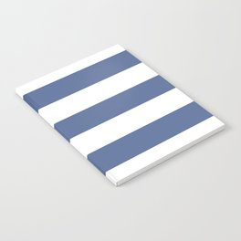 UCLA blue - solid color - white stripes pattern Notebook
