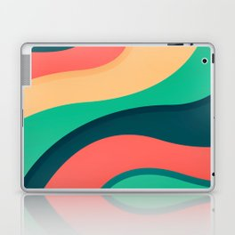 The river, abstract painting Laptop & iPad Skin