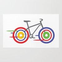 bike Area & Throw Rugs featuring Bike! by Alice Wieckowska