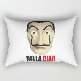 Dalí Mask La Casa de Papel Bella Ciao Rectangular Pillow